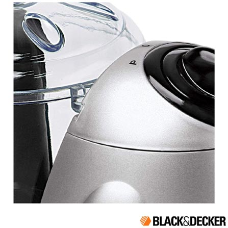 Mini Processador Black & Decker, Branco - HC32, 110V, 220V, Bivolt, Bivolt, Prata, 130 W, 2