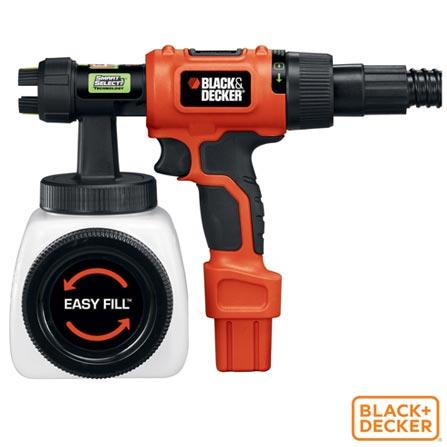 Pistola de Pintura e Pulverizador de Baixa Pressao Black & Decker - BDPH400, 110V, 220V, Laranja e Preto, 12 meses, 450 W