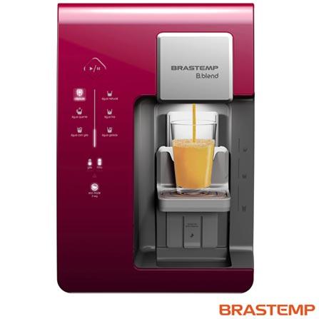 Máquina de Bebidas Brastemp B.blend Roxa - BPG40A2, 110V, 220V, Roxo, Sim, Quente, Fria e Gelada, Mínima - 10º C e Máxima - 32º C, 12 meses