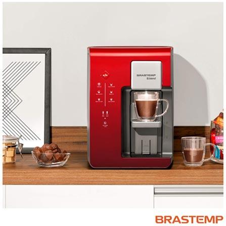 Máquina de Bebidas Brastemp B.blend Vermelha - BPG40AV, 110V, 220V, Vermelho, Sim, Quente, Fria e Gelada, Mínima - 10º C e Máxima - 32º C, 12 meses