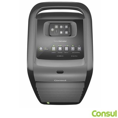 Climatizador de Ar Frio com Funcao Umidificar e 03 Niveis de Ventilacao C1F07AT - Consul, 110V, 220V, Inox, Frio, 5,5 Litros, Sim, Sim, 70 W, 60 Hz, 12 meses
