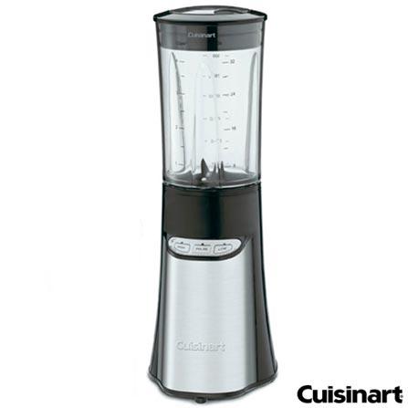 Liquidificador Cuisinart Compacto Preto e Inox com 02 Velocidades, Copo com 950 ml - CPB-300BR, 110V, Preto, Plástico, 2, 0,95 Litros, Não, 350 W, Importado, 12 meses