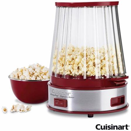 Pipoqueira Elétrica Cuisinart Vermelha - CPM-900BR, 110V, Vermelho, Pipoqueira, 10 xícaras, Não especificado, Não especificado, 600 W, 12 meses