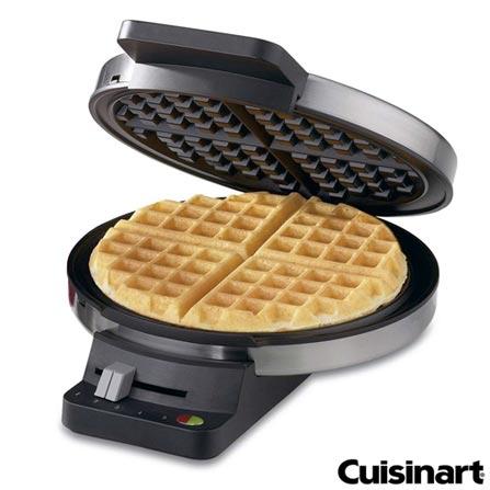 Waffle Maker Classic Cuisinart - WMR-CA, 110V, Prata e Preto, 1000 W