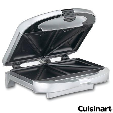 Sanduicheira Grill Cuisinart - WM-SW2, 110V, 220V, Prata, 02 Sanduiches, Grelhar, Não especificado, 12 meses