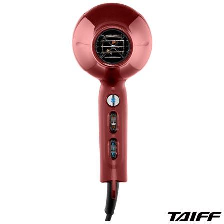 Secador de Cabelo Taiff FireFox com 02 Velocidades e 2100W Vinho - CRJ1, 110V, 220V, Vinho, 02, 04, 2100W, Não, 06 meses