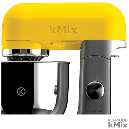 Batedeira Kenwood kMix Amarela com 06 Velocidades e 03 Batedores - KMX50YW, 110V, Amarelo, 05 Litros, 6, 500 W, 12 meses
