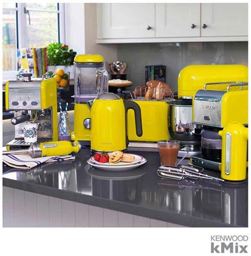 , 110V, Amarelo, 1,6 Litros, Aço Inox, 110V - 1600 W e 220V - 1850 W, 12 meses