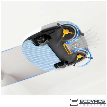 Robô Aspirador de Pó Ecovacs Deebot Slim com Capacidade de 320ml, Função Pet e Carregamento Automático - DEEBOTDSLIM, Não se aplica, 0,320 Litros, Não especificado, Compartimento para Pó, 20 W, Não especificado, 12 meses