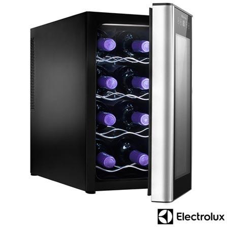 Adega de Vinhos Electrolux para 08 Garrafas com até 18° C - ACS08, 110V, 220V, Termoelétrica, 08 Garrafas, 04 Prateleiras, de 12° C a 18° C, 50 W, 60 Hz