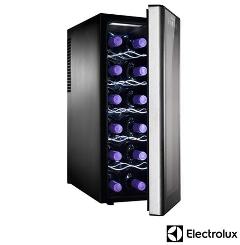 Adega de Vinhos Electrolux 12 Garrafas 18 C 110V - ACS12 + Conjunto de Tacas para Vinho 350 ml 06 Pecas - Bohemia, 1