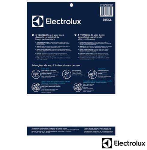 Aspirador de Po Ultrasilencer Green Electrolux 4L com Saco para Po 110V - USG30 + Saco Descartavel Azul SBECL, 0