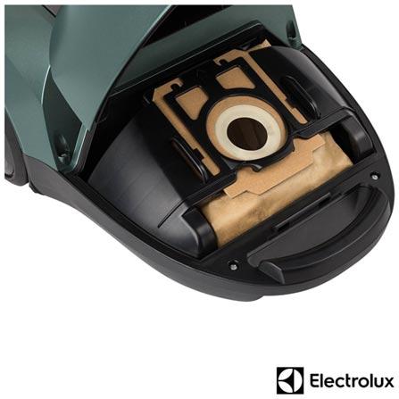 Aspirador de Po Equipt Electrolux com Capacidade de 03 Litros com Coletor de Papel - EQP02, 110V, 220V, Verde, Pó, 3,0 Litros, Saco para Pó, Não especificado, 1,80 kW/h, 1800 W, 12 meses