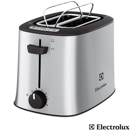 Tostador com 08 Níveis de Tostagem Chef Toast Electrolux - ETC20, 110V, 220V, Aço Escovado, 02 Fatias, 110V - 850W e 220V - 860W