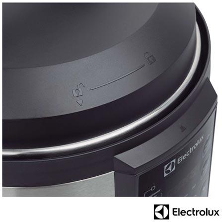 Panela de Pressao Eletrica Electrolux Inox - PCC20, 110V, 220V, Inox, Panela de Pressão Elétrica, 6 Litros, Sim, Sim, Sim, 1000 W, 12 meses