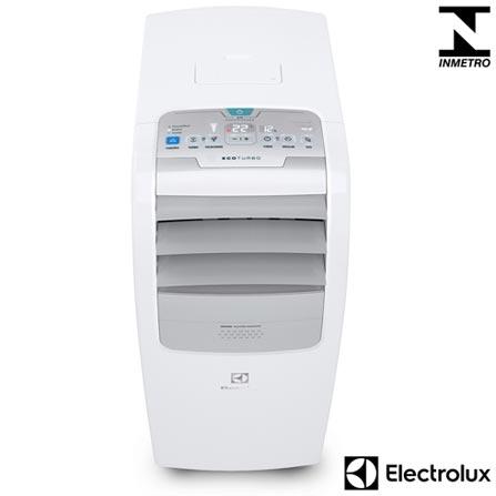 Ar Condicionado Portátil Electrolux com 10.000 BTUs, Frio, Turbo Mode Branco e Cinza - PO10F, 110V, 220V, Branco e Cinza, 9.000 a 11.500 BTUs, Portátil, 10.000 BTUs, Frio, Sim, Sim, Não especificado, Não, Sim, Não especificado, Não especificado, 800 m³/min, Não especificado, 60 Hz, 1100 W, 1,1 kWh/mês, Não especificado, 12 meses