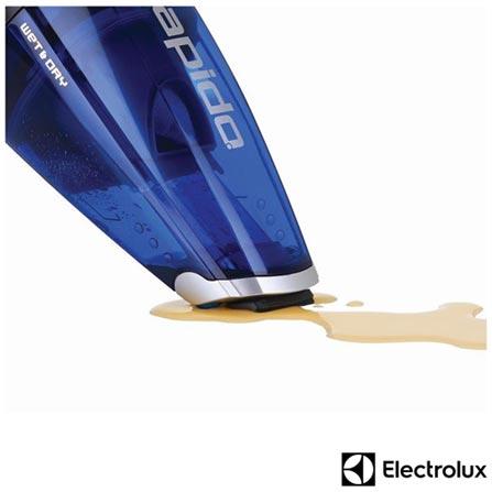 Aspirador de Agua e Po Rapido Electrolux com Capacidade de 0,5 Litros sem Saco para Po - RAP22, 110V, 220V, Azul, Pó e Água, 0,5 Litros, Recipiente Plástico, Não especificado, Não especificado, 6 W, 12 meses