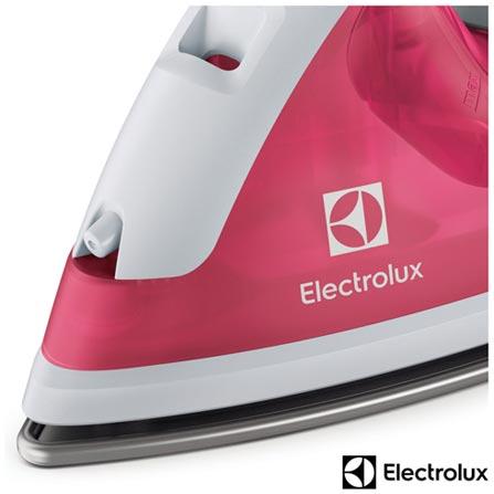 Ferro a Vapor Electrolux Easyline com Seletor de Temperatura - SIB21, 110V, 220V, Rosa e Branco, Vapor, Não especificado, Sim, Polipropileno, 1250 W, 12 meses