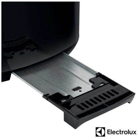 Tostador Electrolux Love Your Day com 07 Níveis de Tostagem - TOM10, 110V, 220V, Preto e Prata, 02 Fatias, 110V - 870 W e 220V - 800 W, 12 meses