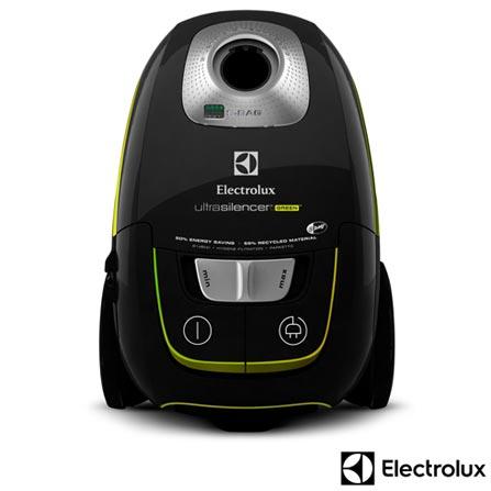 Aspirador de Pó Ultrasilencer Green Electrolux com Capacidade de 4 Litros com Saco para Pó - USG30, 110V, Pó, 04 Litros, Saco para Pó, Sim, Não especificado, 1250 W, 12 meses