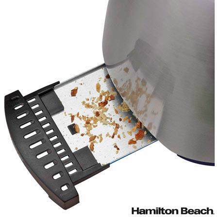 Torradeira de Metal Hamilton Beach com Capacidade para 2 Fatias - 22504BZ, 110V, 220V, Preto e Prata, 02 Fatias, 900 W, 12 meses