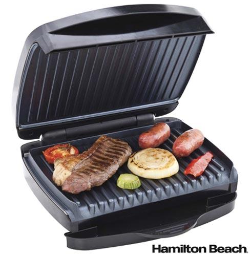 Sanduicheira Grill com Capacidade para 02 fatias Hamilton Beach - 25335-BZ, 110V, 220V, Preto, 02 Sanduiches, Grelhar, 1200 W, 36 meses