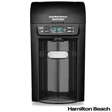 Cafeteira Hamilton Beach BrewStation Preta para Café em Pó - 48274 BZ, 110V, 220V, Preto, Elétrica, Pó, Não se aplica, Não se aplica, 17 xícaras, Café, Não especificado, 950 W, 36 meses