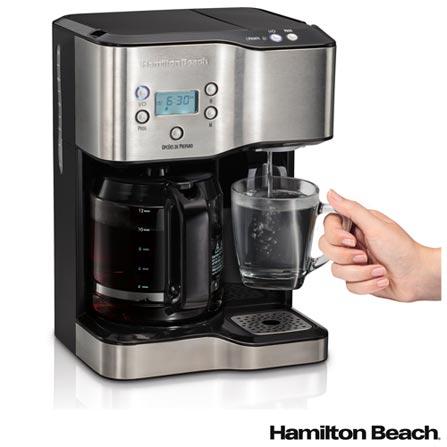 , 110V, 220V, Preto e Inox, Concentrado de Café e Chá, 35 xícaras, Concentrado de Café e Chá, Vidro, Plástico e Aço, 1750 W, 36 meses, Sim