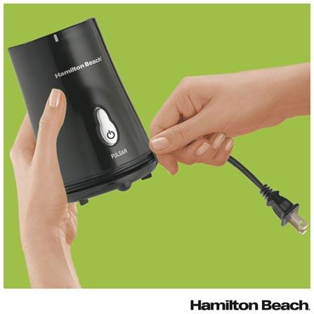 Liquidificador Individual Hamilton Beach com 01 Velocidade e Jarra com 400 ml - 51102BZ, 110V, 220V, Preto, Tritan, 1, 0,4 Litros, Não, Importado, 36 meses
