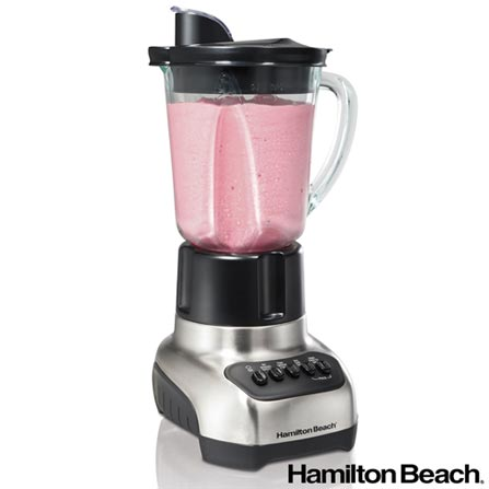 Liquidificador Hamilton Beach Multifuncional Plus BZ54229 com 4 Velocidades e Jarra em Tritan com 1,4 L de Capacidade, 110V, 220V, Preto e Prata, Copoliéster, 4, 1,4 Litros, Sim, 500 W, Importado, 36 meses