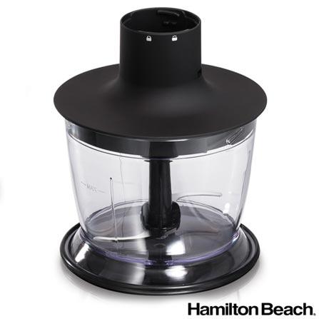 Mixer Hamilton Beach com Velocidade Variavel+Turbo Constante, Capacidade de 0,7 Litros e Multiplas Funcoes - BZ59769, 110V, 220V, Preto e Prata, 36 meses