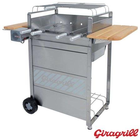 Churrasqueira Elétrica Giragrill Garden G 2300 Premium, Bivolt, Bivolt, Inox, 34 cm de largura, 06 meses