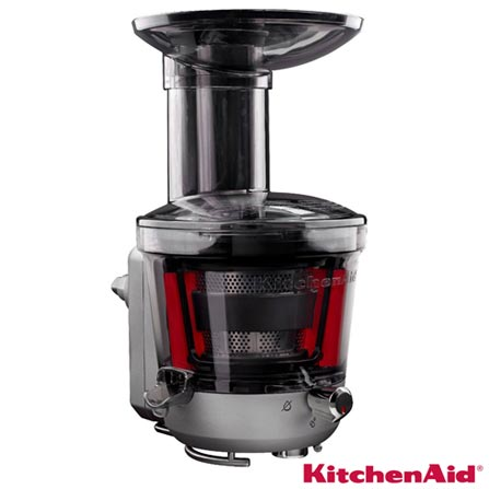 Extrator Slow Juicer para Stand Mixer Preto KitchenAid - KI102AEONA, Preto, Moedor, Fatiador e Ralador, 03 meses