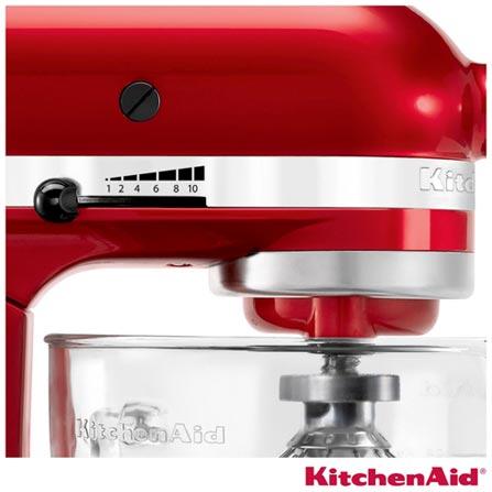 Batedeira Planetária KitchenAid Stand Mixer com 10 Velocidades e 3 Batedores - KEA33A3, 110V, Vermelho, 4,8 Litros, 10, 275 W, 12 meses