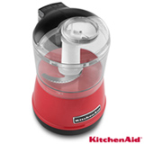 Mini Processador de Alimentos KitchenAid Empire Red com 02 Velocidades, 0,8 Litros e Múltiplas Funções - KJA13AV