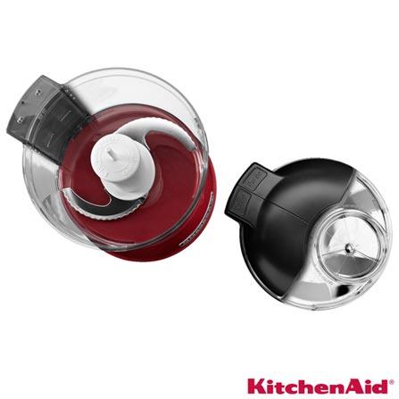Mini Processador de Alimentos KitchenAid Empire Red com 02 Velocidades, 0,8 Litros e Múltiplas Funções - KJA13AV, 110V, Vermelho, 02, 0,8 Litros, 240 W, 12 meses