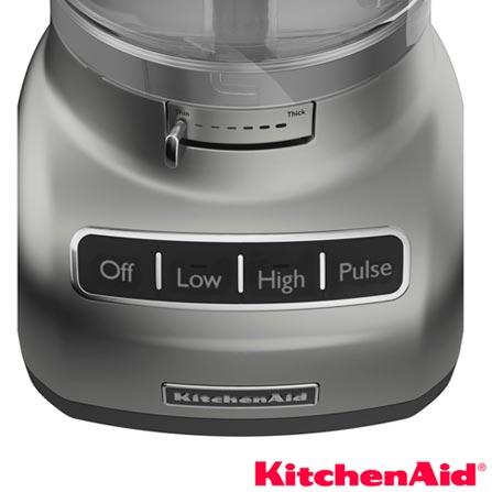 Multiprocessador KitchenAid com 3  Velocidades e Capacidade de 3,5 Litros - KJA13ASANA, 110V, Não se aplica, 03, 3,5 Litros, 280 W
