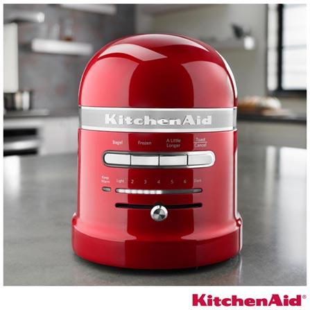 Torradeira com 07 Níveis de Tostagem Pro Line KitchenAid - KJC22A3, 110V, Vermelho, 02 Fatias, 1000 W, 12 meses