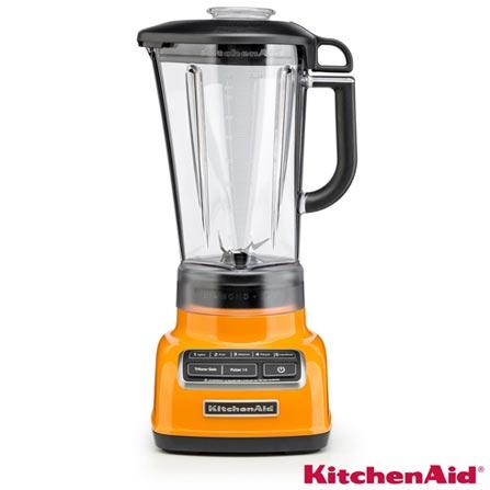 Liquidificador KitchenAid KUA15A8 Diamond Blender com 05 Velocidades e Jarra em Policarbonato com 1,7L de Capacidade, 110V, Laranja, Policarbonato, 5, 1,7 Litros, Não, 650 W