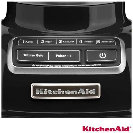 Liquidificador KitchenAid KUA15AE Diamond Blender com 05 Velocidades e Jarra em Policarbonato com 1,7L de Capacidade, 110V, 220V, Policarbonato, 5, 1,7 Litros, Não, 110V - 650 W e 220V - 550 W