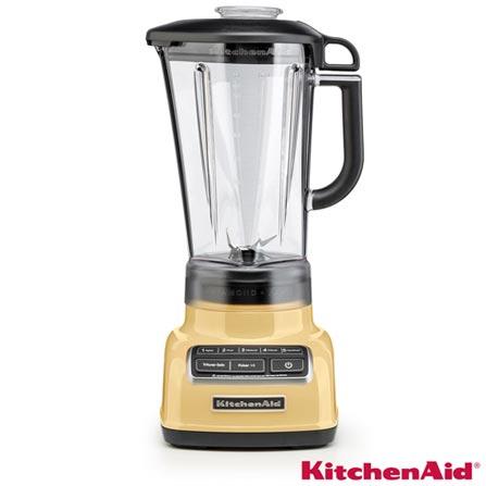 Liquidificador KitchenAid KUA15AY Diamond Blender com 05 Velocidades e Jarra em Policarbonato com 1,7L de Capacidade, 110V, Amarelo, Policarbonato, 5, 1,7 Litros, Não, 650 W