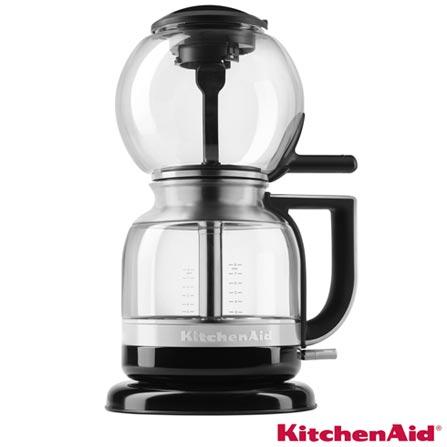 Cafeteira de Sifão KitchenAid Onyx Black Automática para Café em Pó - KXA08AE, 110V, Preto, Elétrica, Pó, 12 meses