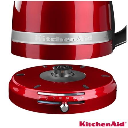 Chaleira Elétrica Pro Line Kitchenaid com Capacidade de 1,5 L - KXC03A3ANA, 110V, Vermelho, 1,5 Litros, Não especificado, 1440 W, 12 meses
