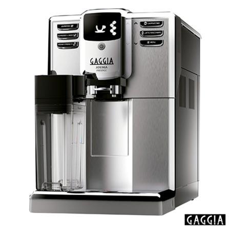 , 110V, Prata, Espresso automática, Grãos, 01 ou 02 xícaras, Cafés Curtos e Longos e Latte Macchiato, Não especificado, 1850 W, 12 meses, Sim