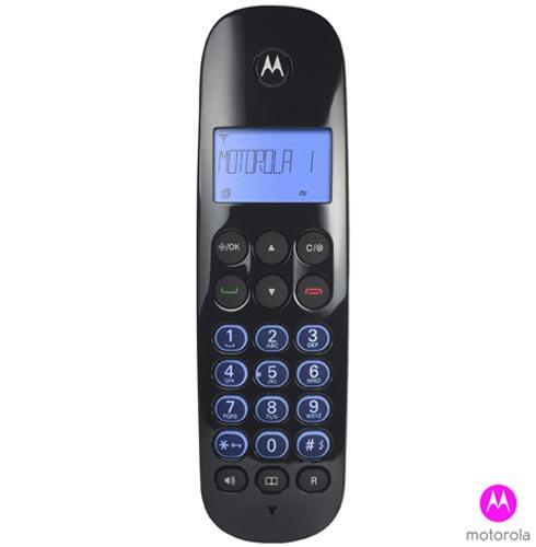Telefone sem Fio Motorola com Display Iluminado, Viva-Voz, Identificador de Chamadas e Secretária Eletrônica - MOTO 750, Bivolt, Bivolt, Preto, Sim, Sim, Não possui, Sim, Sim, Sim