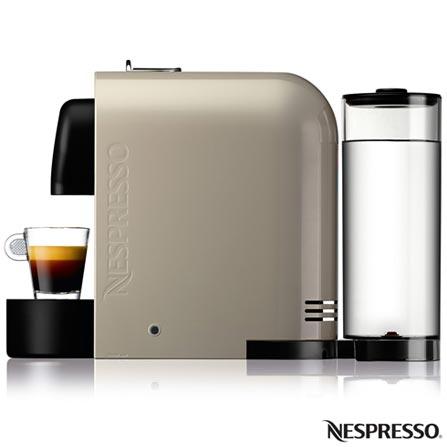 Cafeteira Nespresso U Pure Grey Cinza para Café Espresso, 110V, 220V, Preto e Gelo, Espresso automática, Cápsulas, 0,8 Litros, 19 Bars, 01 xícara, Café espresso, Não especificado, 1200 W