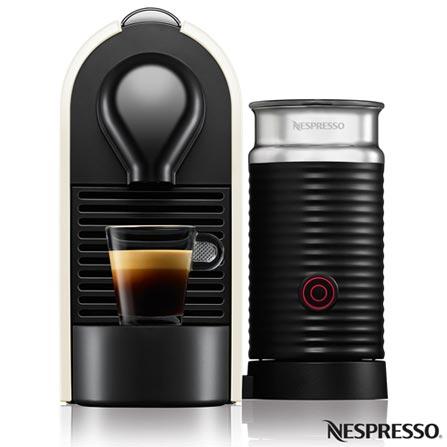Cafeteira Nespresso Umilk Pure Creme para Café Espresso, 110V, 220V, Bege, Espresso automática, Cápsulas, 0,8 Litros, 19 Bars, Não especificado, Café Espresso e Lungo, Não especificado, 1200 W, 12 meses