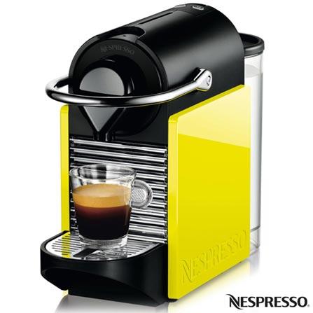 Cafeteira Nespresso Pixie Clips Black and Lemon Neon para Cafe Espresso, 110V, 220V, Preto e Verde, Espresso automática, Cápsulas, 0,7 Litros, 19 Bars, 01 xícara, Café espresso, Não especificado, Não especificado, 12 meses