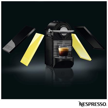 Cafeteira Nespresso Pixie Clips Black and Lemon Neon para Café Espresso, 110V, 220V, Preto e Verde, Espresso automática, Cápsulas, 0,7 Litros, 19 Bars, Não especificado, Café espresso, Não especificado, Não especificado, 12 meses