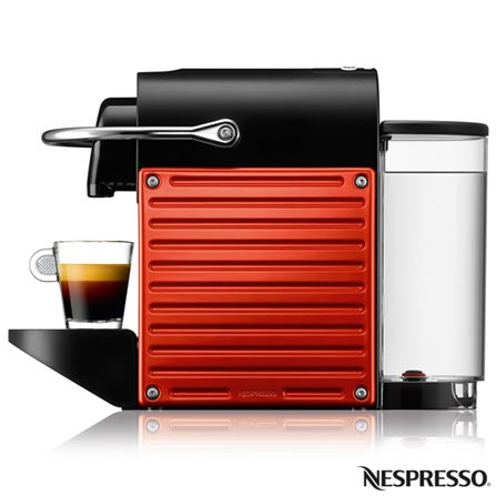 Cafeteira Nespresso Automática Pixie Vermelha para Café Espresso, 110V, 220V, Vermelho, Espresso automática, Cápsulas, 0,8 Litros, 19 Bars, Não especificado, Café Espresso e Lungo, Não especificado, 1200 W, 12 meses